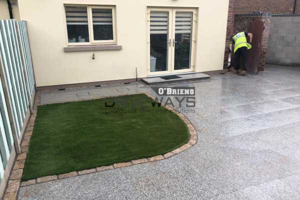 Granite Stone Patio Built in Dublin. New Walling, Slabs, Lawn and More