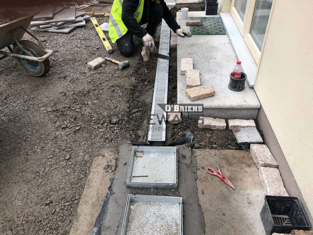 Granite Stone Patio Built in Dublin  New Walling, Slabs, Lawn and