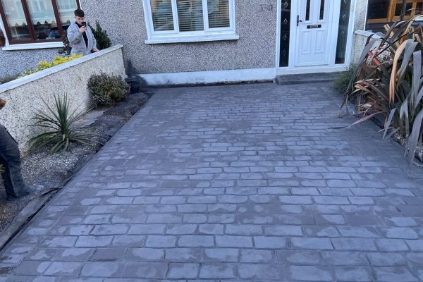 New Patterned Concrete Driveway in Dublin
